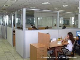 Kısa Ofis Bölme Seperatör Bölme