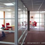 şeffaf camlı ofis bölme