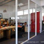 şeffaf ofis bölme 4 mm düz cam
