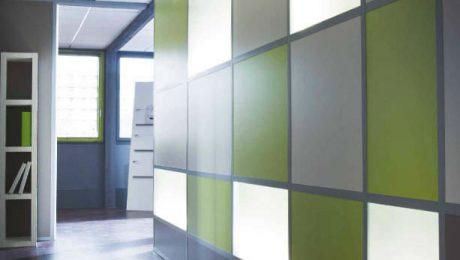 renkli camlı bölme duvar sistemleri