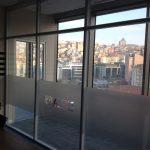 5+5 lamine camlı ofis bölme duvar