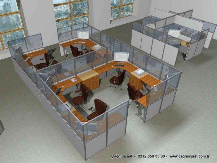 ofis bölme sistemleri çizimleri 1