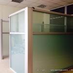 cam ofis bölme duvar kısa separatör