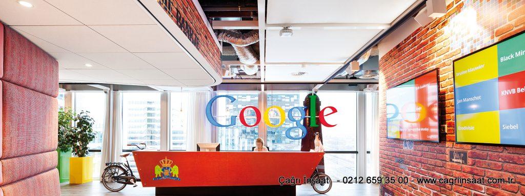 google ofisleri metal asma tavan sistemleri
