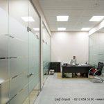 ofis duvar bölmeleri temperli cam kapı dahil